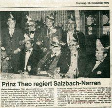 Karneval 1980 Pressebericht 20.11.1979