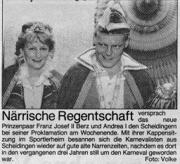 Karneval 1995 Foto und Pressebericht