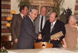 Bei der Verabschiedung von Erich Reuther 1985
