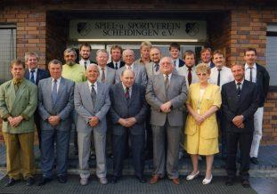 Vorstand 1991 2.v.l. Friedel Westerhoff