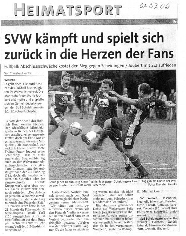 Derby gegen Welver 2006