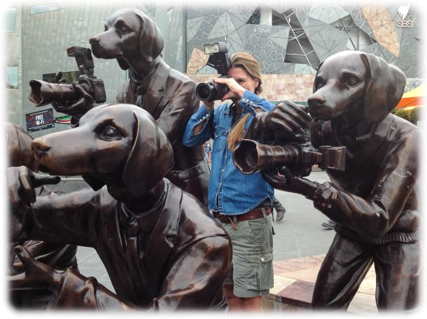 Australien Melbourne paparazzi dogs sculpture Fotograf photographer Frankfurt