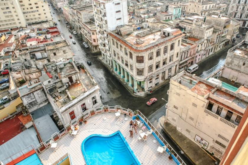 Kuba, Havanna, Habana, Havanna Centro, Fotograf, Havanna Vogelperspektive, Havanna von oben, Sicht vom Hotel Deauville