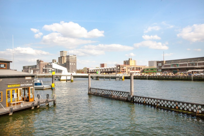 Holland, fotograf, reiseblog, Wassertaxi, Kop van Zuid, Rotterdam, Blick auf Fenix Food Factory