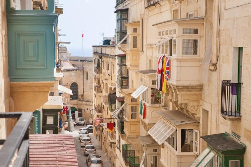 Valletta: Blick von unserem Balkon
