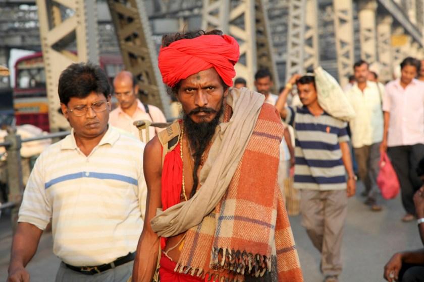 Kalkutta kolkata Howrah Bridge Sadhu