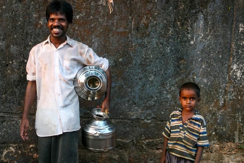 Menschen Dorf Indien goa suedindien