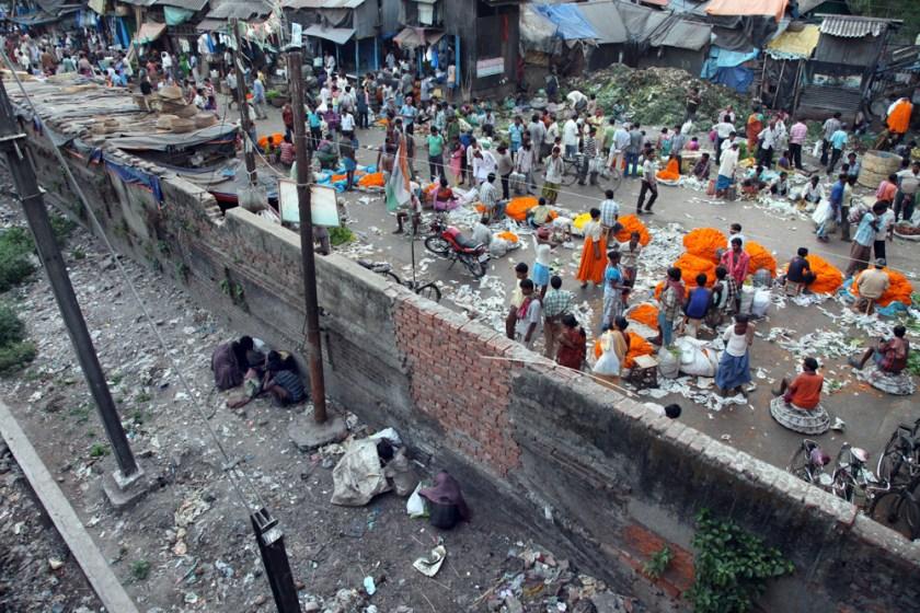 blumenmarkt howrah bridge indien kalkutta kolkata