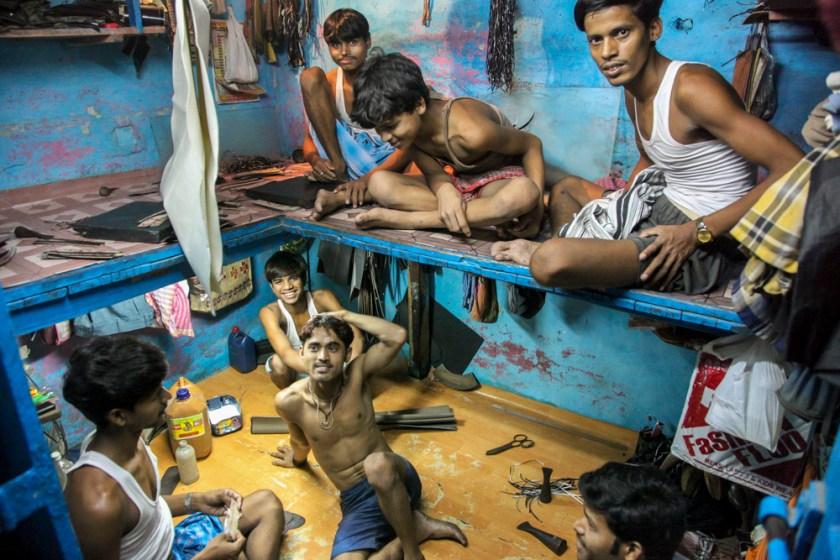 indien kolkata arbeiter famile fotograf kalkutta