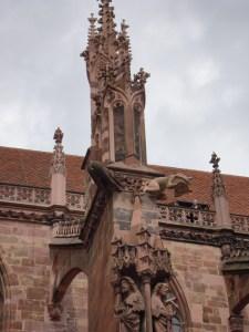 mooning gargoyle of Munster Cathedral