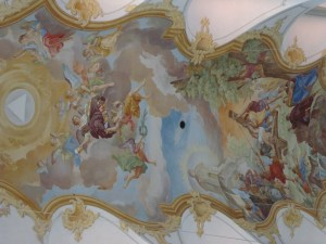picture of ceiling at Saint Peter's