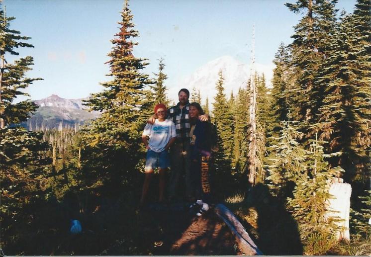 Susan Dad & Denise Wonderland Trail Hike 08-Sep-1995