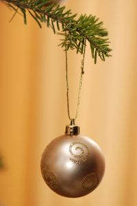gold Christmas ornament from The Secret to Balancing Your Life post at Holy in the Daily