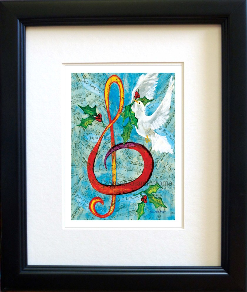Christmas G Clef collage