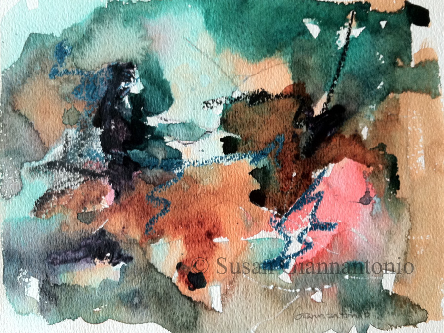 If, Then watercolor painting
