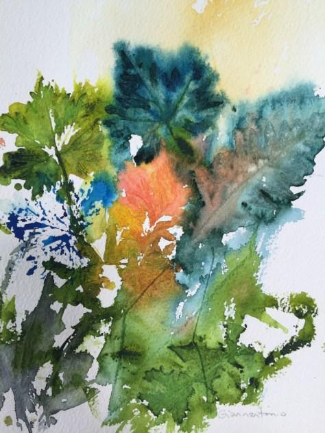 "Fern Secrets, 10 x 8"" transparent watercolor"
