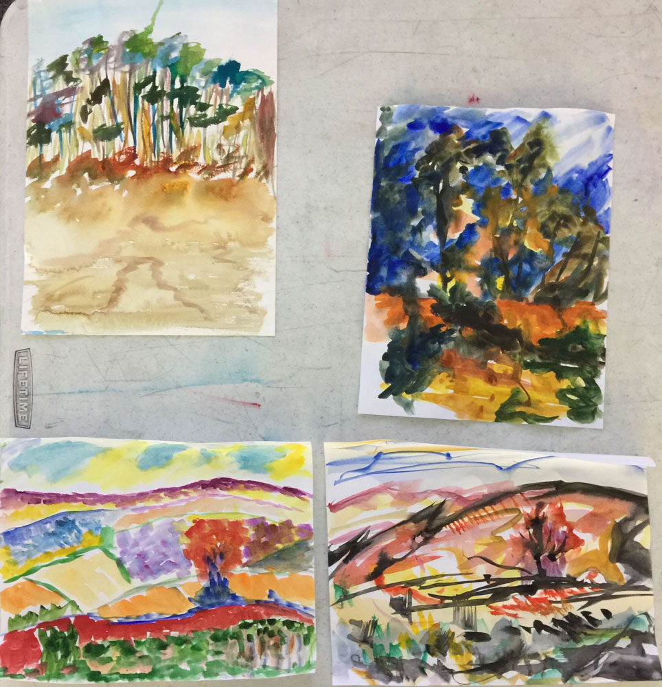 Watercolor art society houston tx - Impressionism Class Day 1 Landscape Masterpieces Susan Giannantonio Artist