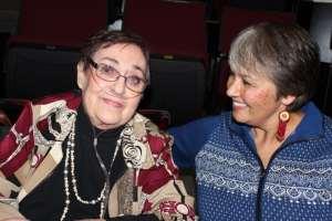 Susan Harness with Evelyn Stevenson.  Honor the Professor Series, Salish Kootenai College 2012