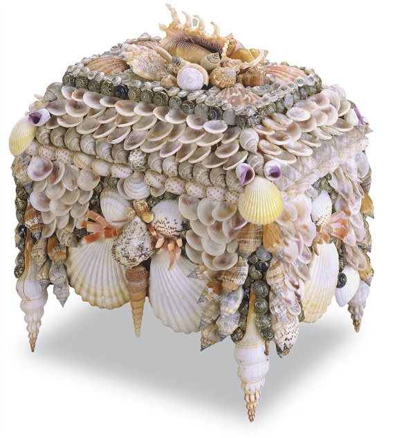 Boardwalk Shell Jewelry Box, Currey & Co