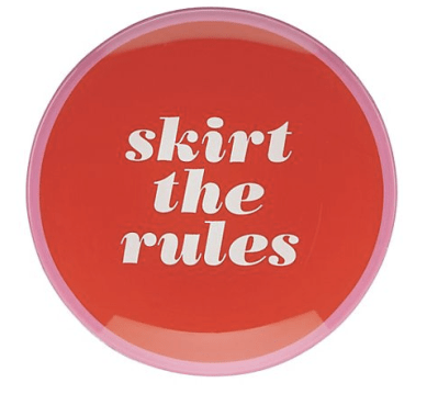 Say the word ''skirt the rules'' Dish, Kate Spade