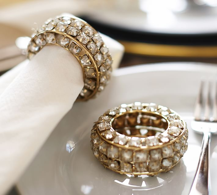 Crystal Bracelet Napkin Ring, Set of 4, Pottery Barn