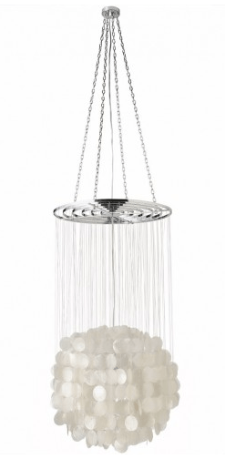 Natural Capiz Ball Chandelier, Kouboo