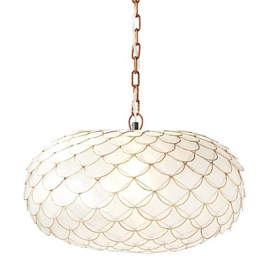 Capiz Scalloped Chandelier, Serena & Lily