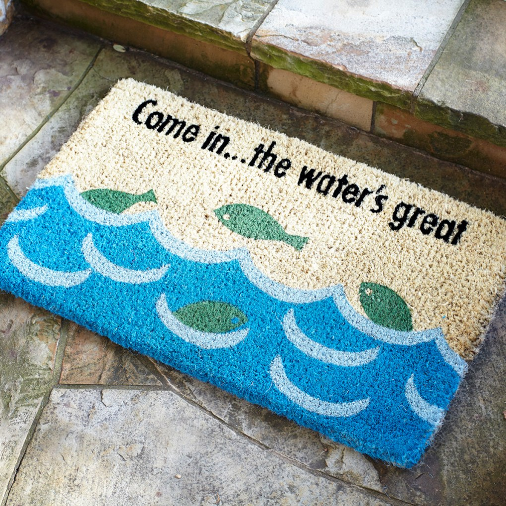 Dirt at Bay Doormat- Wisteria