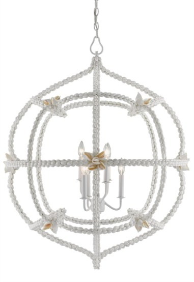 Sea forth Orb Chandelier by Currey & Company