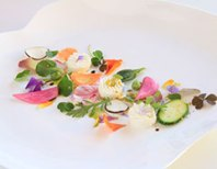 with spring vegetables