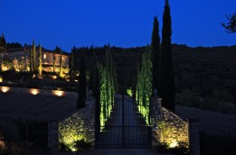 the entrance at night