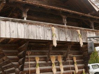 Beautiful granaries like this are found on almost every farm in the Emmental and many are still in use