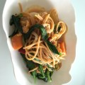 whole wheat spaghetti with wild garlic
