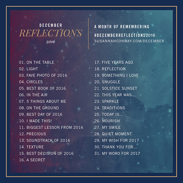 A Month of Remembering with December Reflections | SusannahConway.com