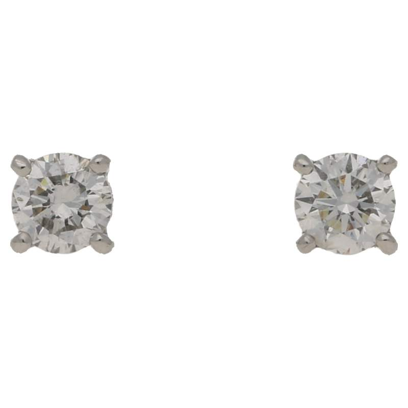 Solitaire diamond earrings 0.40 carats