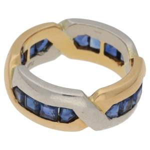 Oscar Heyman yellow gold and platinum sapphire ring