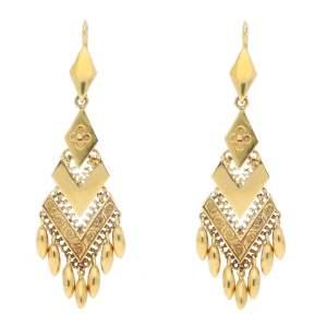 Victorian Etruscan Style Drop Earrings