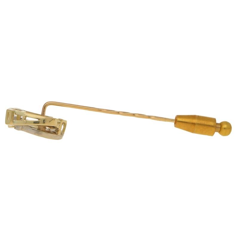 Vintage Diamond Double Horseshoe Stickpin Yellow and White Gold
