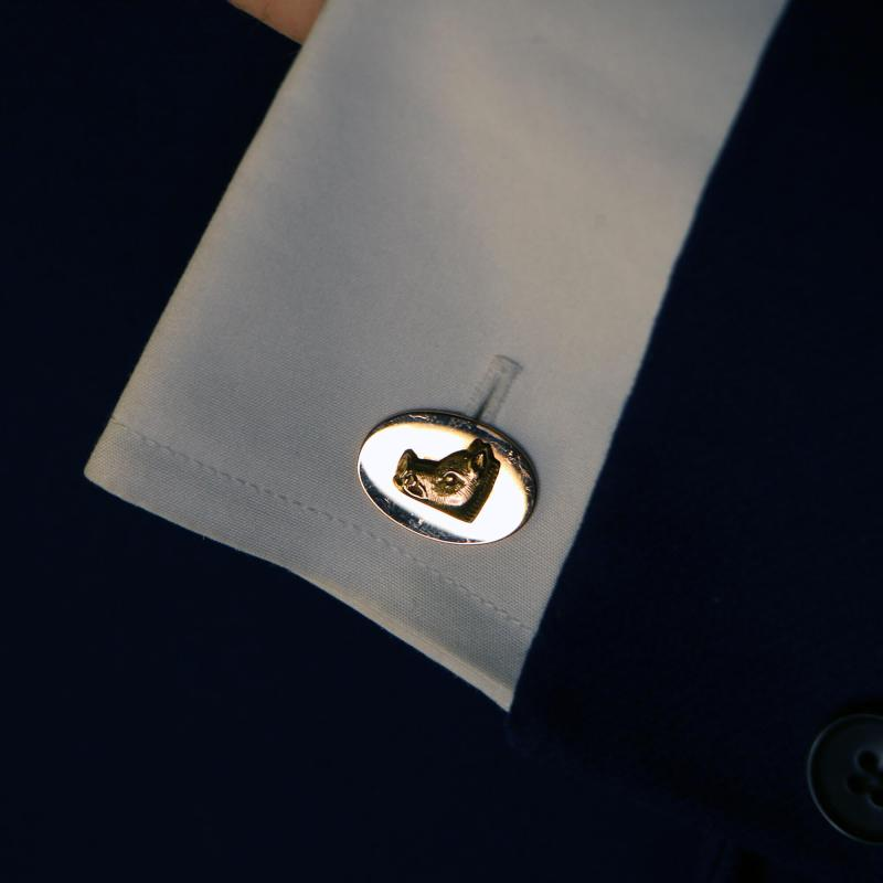 Victorian 18k gold boar cufflinks