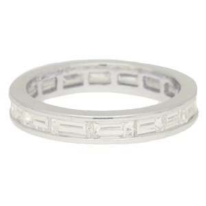 Art Deco Inspired Baguette Diamond Eternity Ring