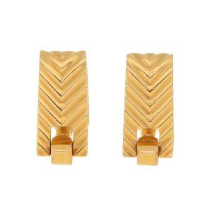 Boucheron gold 1940's stirrup cufflinks