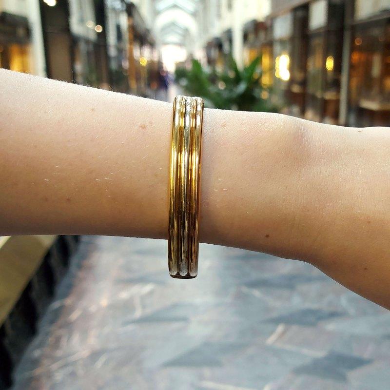Cartier Trinity bracelet in 18k tri-colour gold.