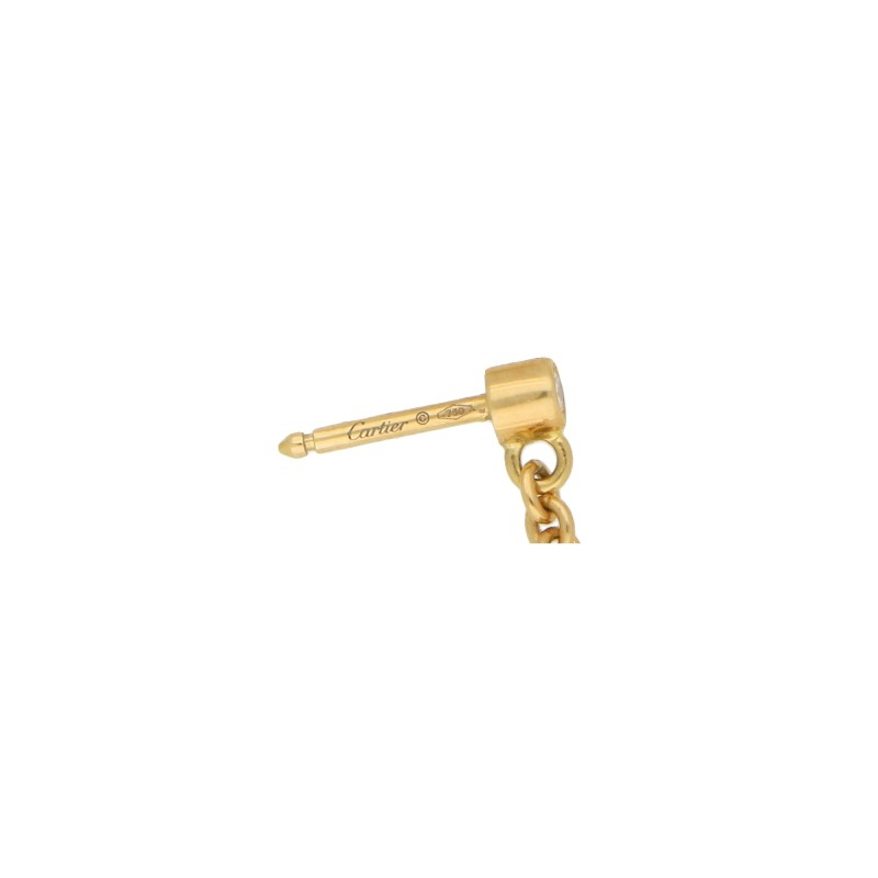 Cartier Trinity Knot Drop Earrings Yellow Gold
