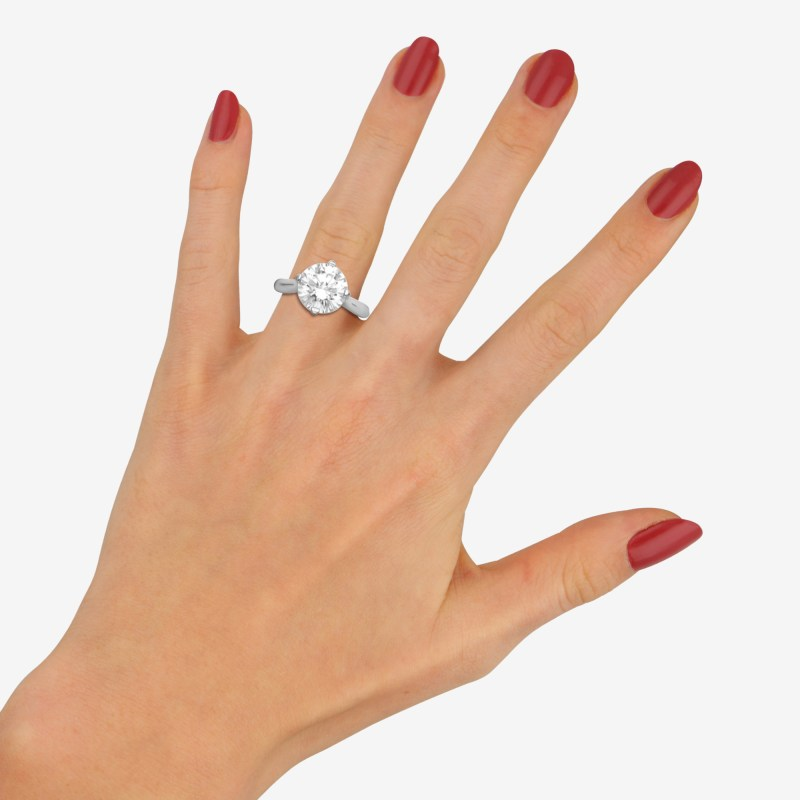 4.06ct Diamond Solitaire Ring set in a Boodles Mount