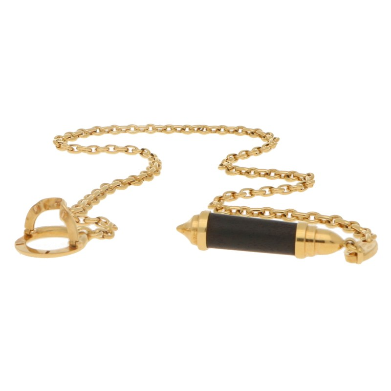 Chaumet Lariat Snakewood Necklace in 18k Yellow Gold