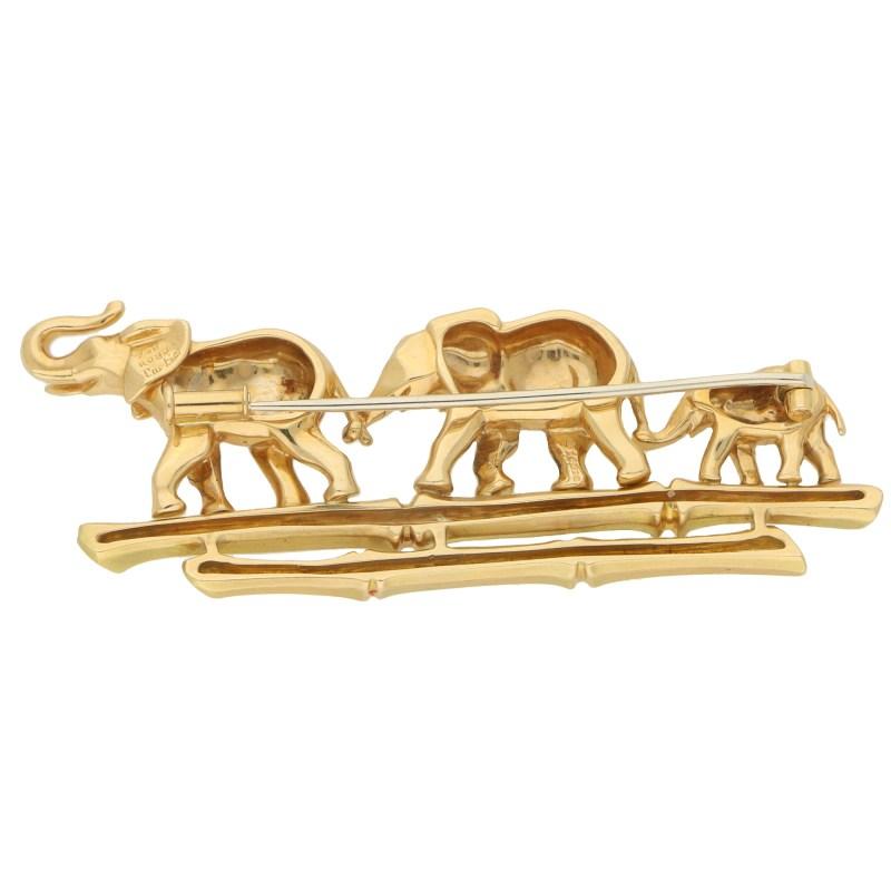Cartier Emerald Walking Elephant Family Brooch