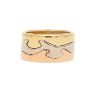 Georg Jensen Fusion Puzzle Ring in Tri-coloured Gold