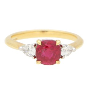 GIA Certified, Tiffany & Co. Burmese Ruby and Diamond Ring