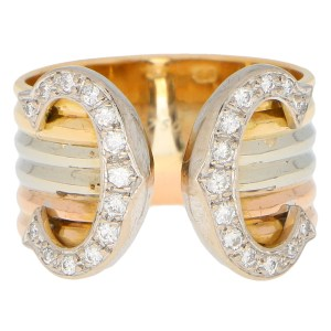 C de Cartier Diamond Trinity Band Ring