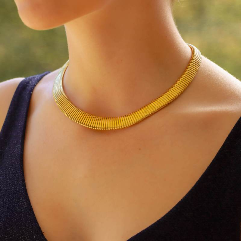 Retro Gas Pipe Collar Necklace
